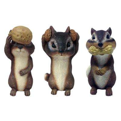 6 in. Chipmunks Lawn Statues (3-Pack)