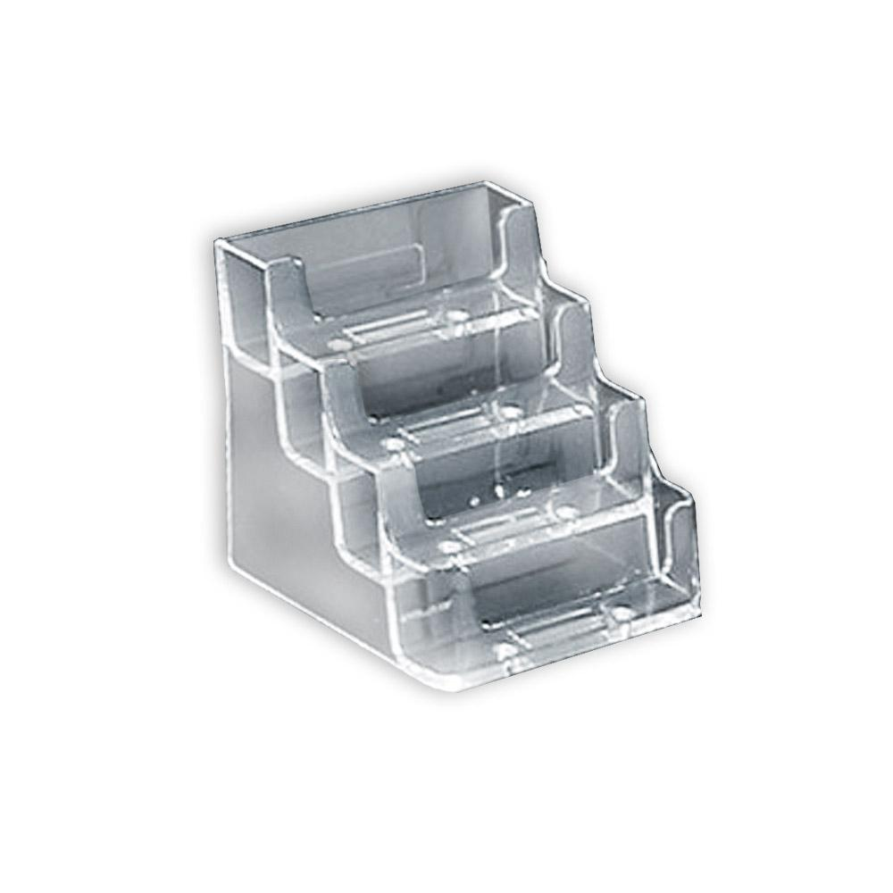 Azar Displays 4-Tier Clear Business/Gift Card Holder(10-Pack)-252004 ...