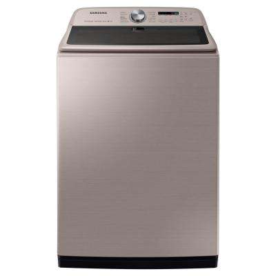5.4 cu. ft. High-Efficiency Champagne Top Load Washing Machine with Super Speed and Steam, ENERGY STAR