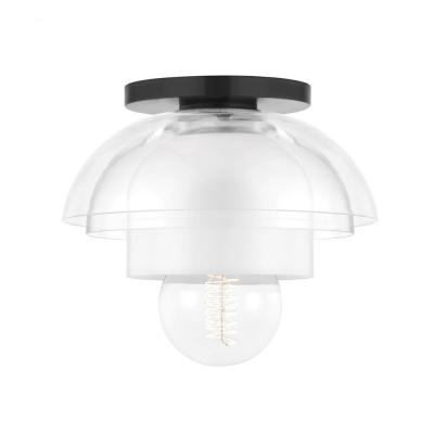 Ruby 8 in. 1-Light Old Bronze Flush Mount