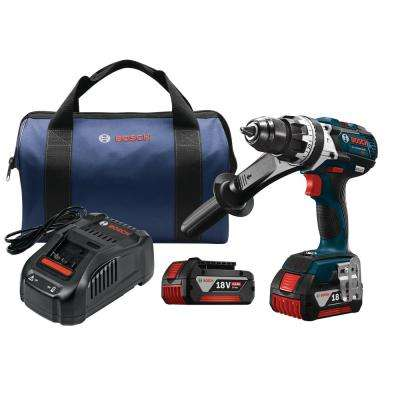 18-Volt Lithium-Ion Cordless Brute Tough 1/2 in. Hammer Drill/Driver Kit with Carrying Case