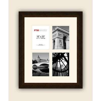 4-Opening 5 in. x 7 in. White Matted Bronze Photo Collage Frame