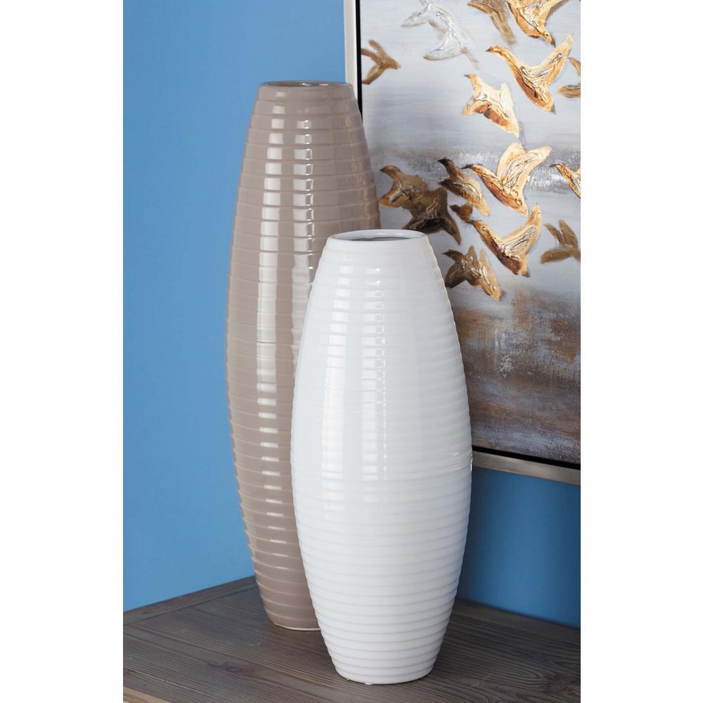 White Ceramic Decorative Vase