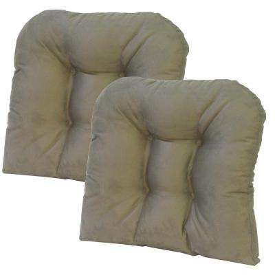 Gripper Non-Slip 15 in. x 15 in. Obsession Sage Tufted Universal Chair Cushions (Set of 2)