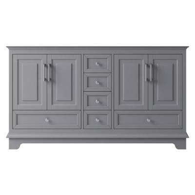 McAuley 57.87 in. W x 20.94 in. D x 32.68 in. H Bath Vanity Cabinet Only in Taupe Grey