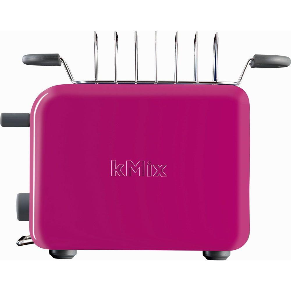DeLonghi kMix 2-Slice Toaster with Bun Warmer in Magenta-DISCONTINUED