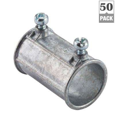 1/2 in. Electrical Metallic Tube (EMT) Set-Screw Coupling (50-Pack)