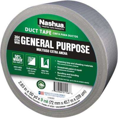 2.83 in. x 50 yd. 394 Extra Wide General Purpose Duct Tape in Silver