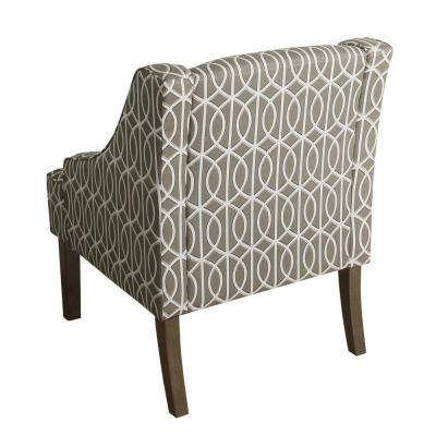 Gray Trellis Finley Swoop Arm Accent Chair
