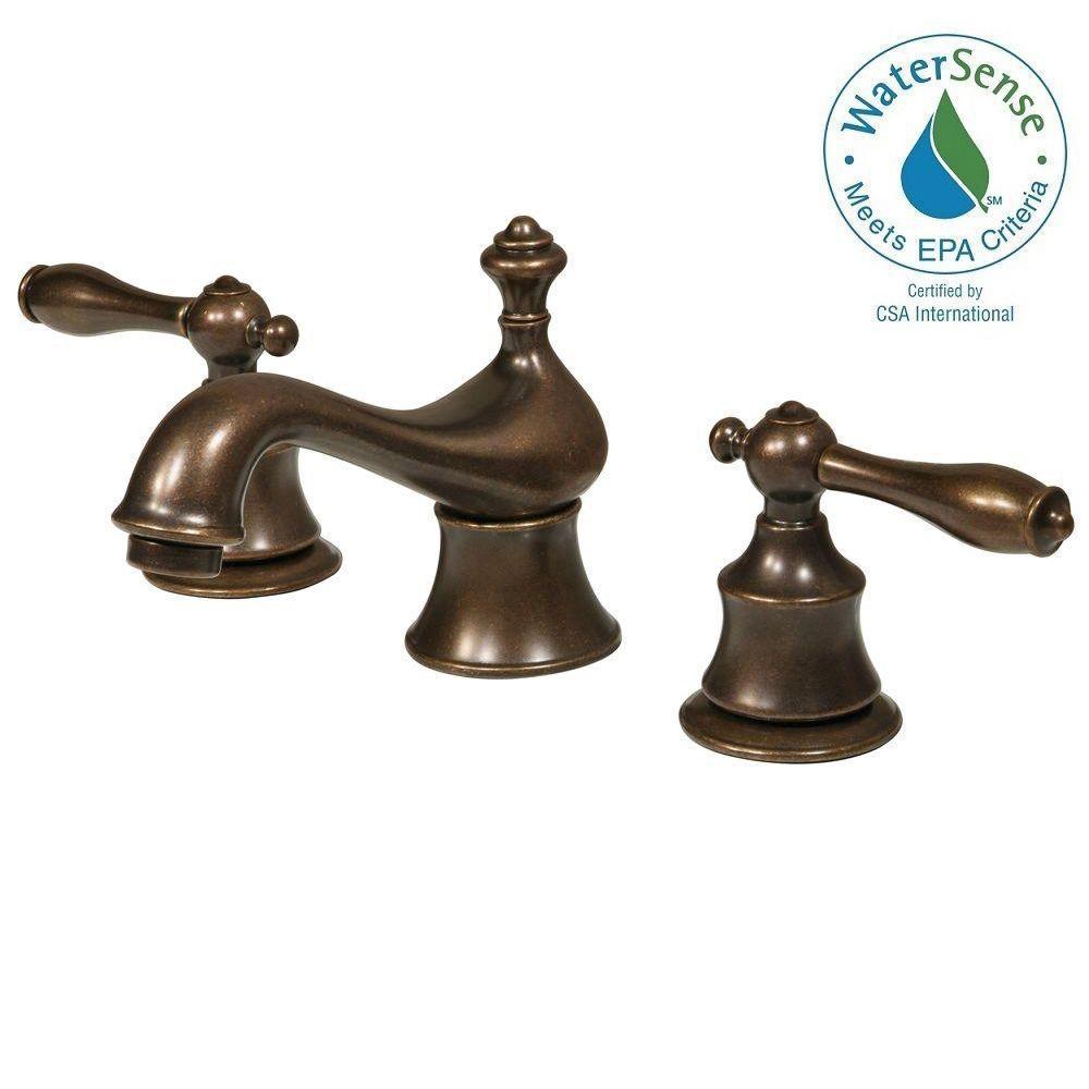 Glacier Bay Estates 8 in. Widespread 2-Handle Bathroom Faucet in ...