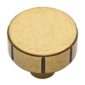 Rustic Industrial 1-1/4 in. (32mm) Bedford Brass Cabinet Knob