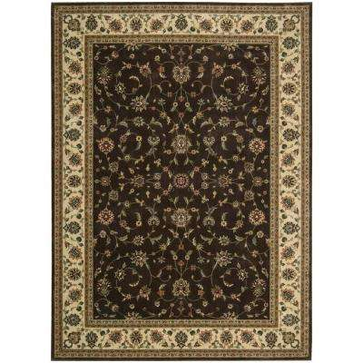 Persian Arts Chocolate 9 ft. 6 in. x 13 ft. Area Rug