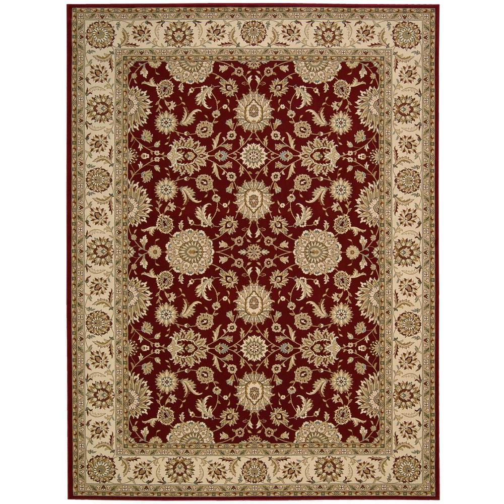 Nourison Persian Crown Suret Red 7 ft. 10 in. x 10 ft. 6 in. Area Rug