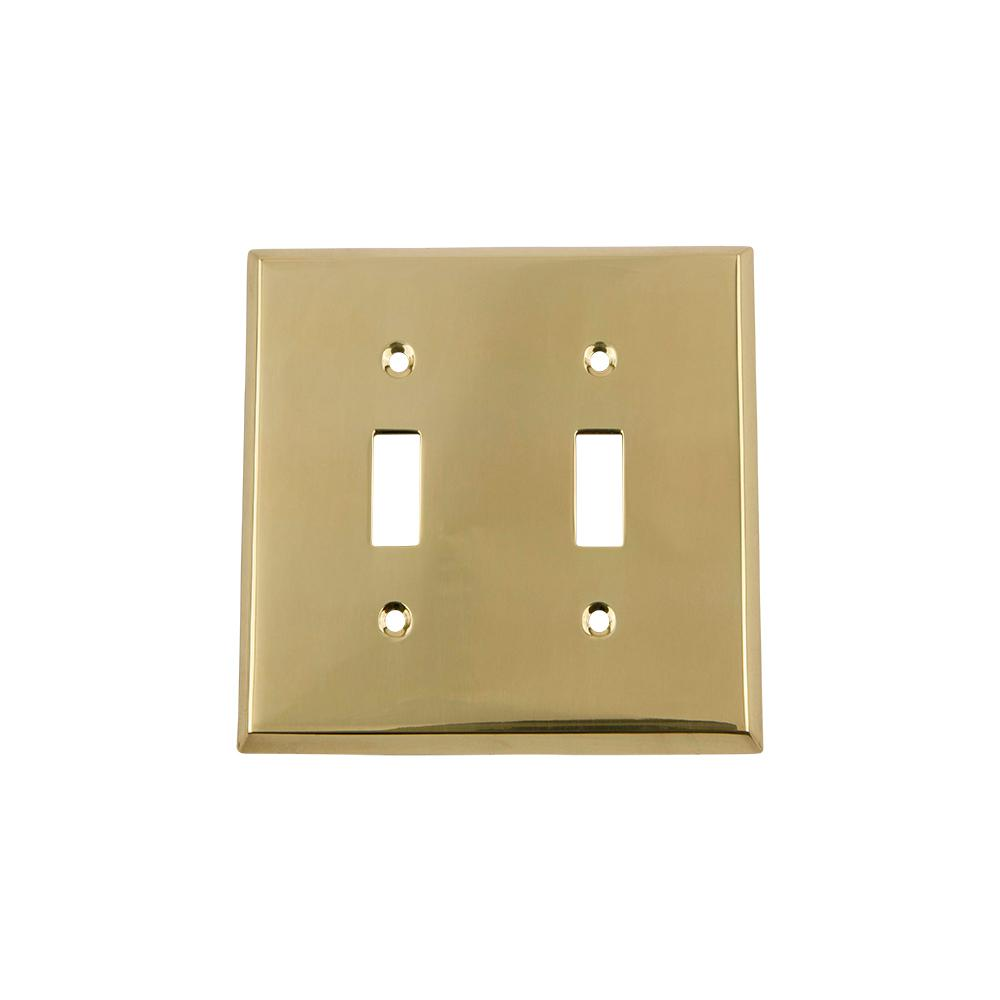 Nostalgic Warehouse Meadows Switch Plate with Double Toggle in ...