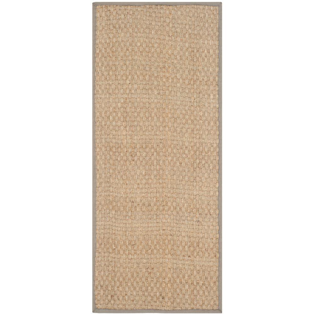 Safavieh Natural Fiber Beige/Grey 3 ft. x 16 ft. Runner Rug