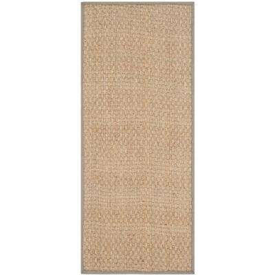 Natural Fiber Beige/Grey 3 ft. x 16 ft. Runner Rug