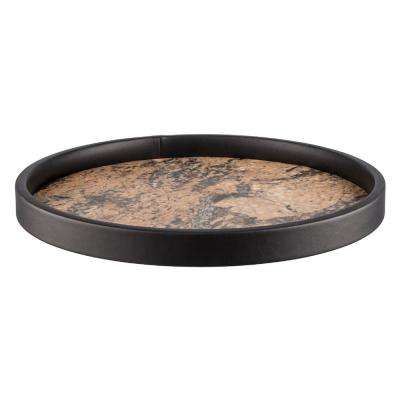 Russet Stone Vinyl 14 in. Round Serving Tray