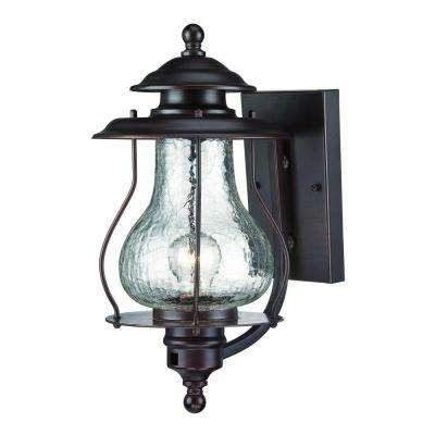 Blue Ridge Collection 1-Light Architectural Bronze Outdoor Wall Mount Light Fixture