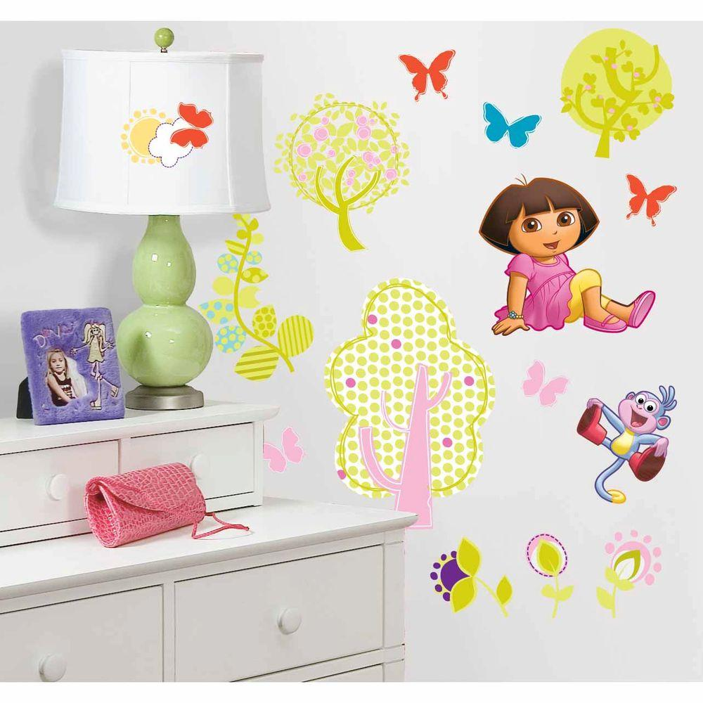 RoomMates Dora The Explorer Peel And Stick Wall Decals RMK1378SCS   The Home  Depot