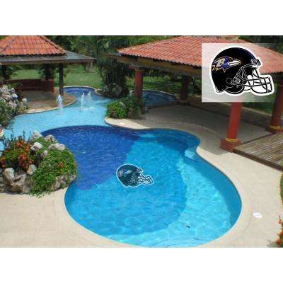 NFL Baltimore Ravens 29 in. x 29 in. Small Pool Graphic