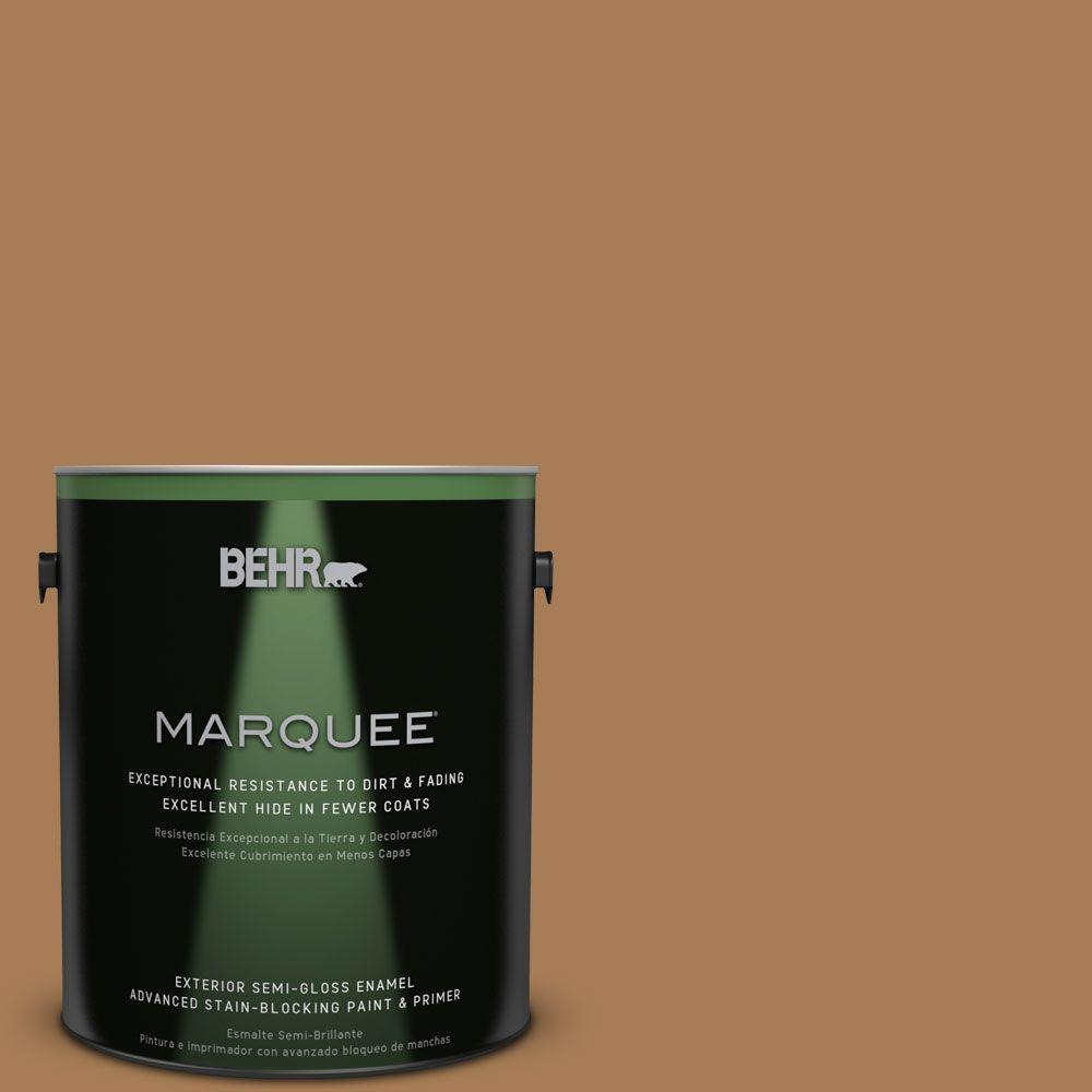 BEHR MARQUEE 1-gal. #S270-7 Antique Penny Semi-Gloss Enamel Exterior Paint