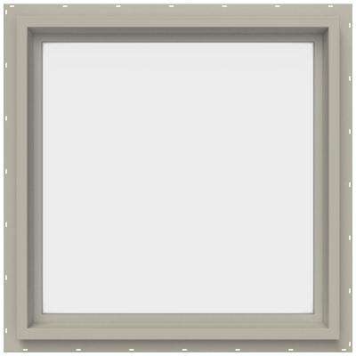 23.5 in. x 23.5 in. V-4500 Series Fixed Picture Vinyl Window - Tan