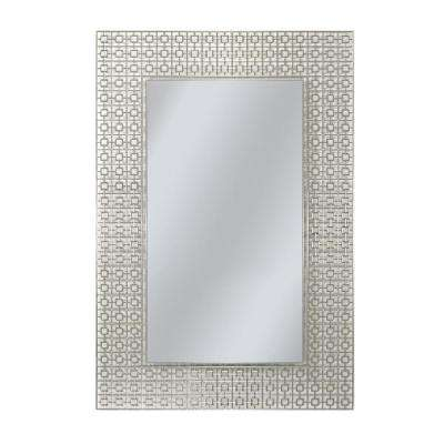 36 in. x 24 in. Etched Geometric Wall Mirror