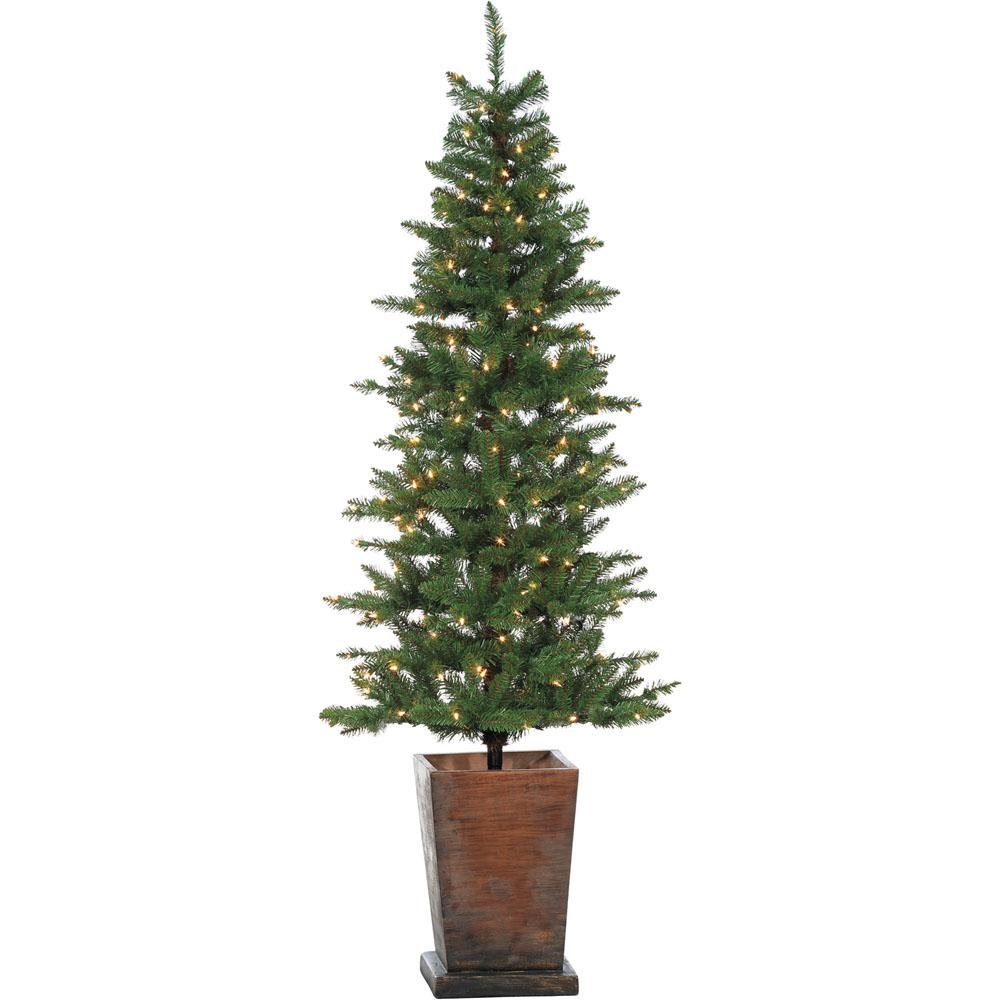 Colorado Fir 6 ft. Artificial Holiday Potted Tree with Smart LED