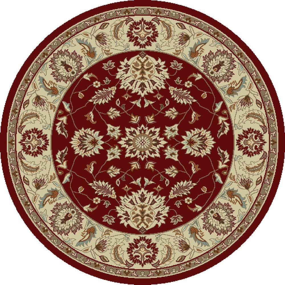 Chester Oushak Red 7 ft. 10 in. Round Area Rug