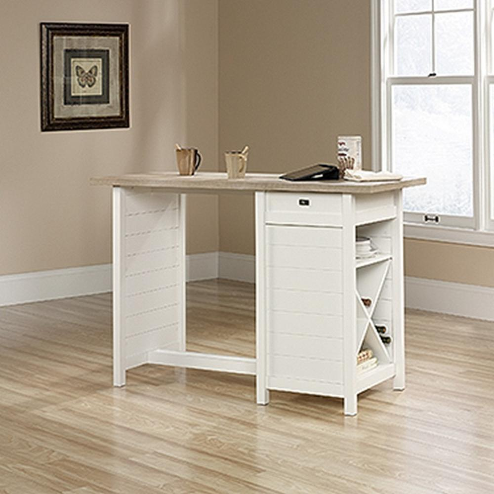 Sauder Office Furniture Cottage Road Soft White Work Desk