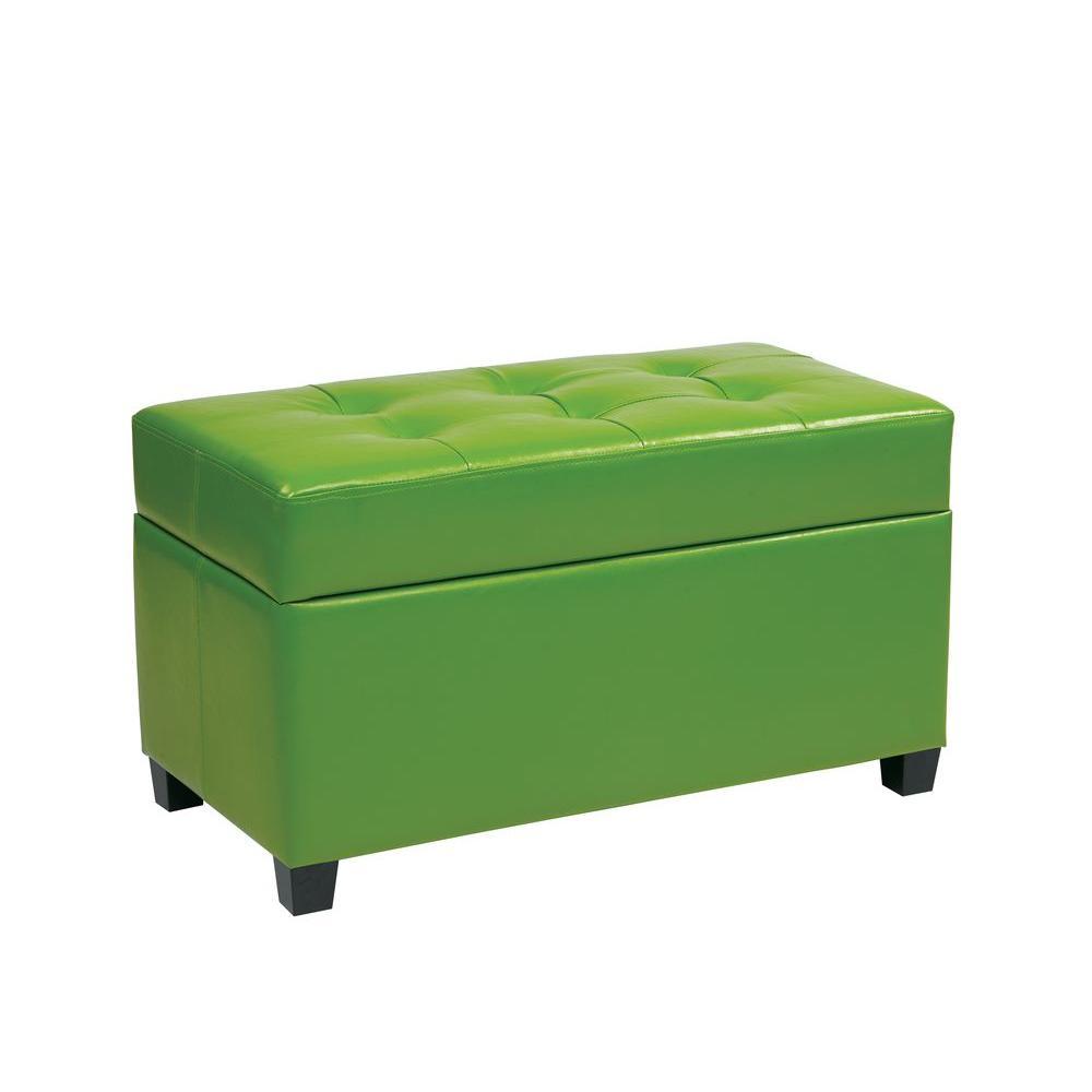 Green Storage Ottoman