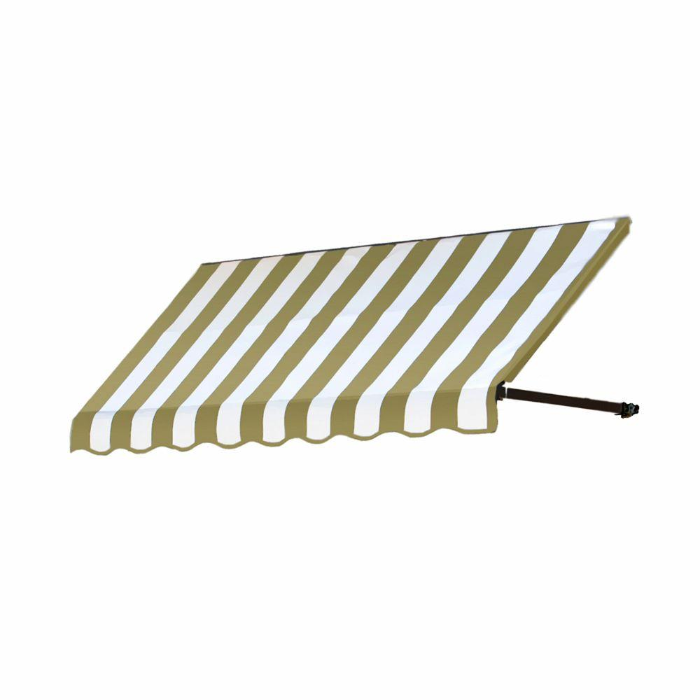 AWNTECH 6 ft. Dallas Retro Awning (31 in. H x 24 in. D) in Tan/White Stripe