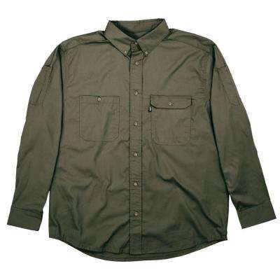 Men's 6 XL Tall Sage Cotton and Polyester Duck Light-Weight Canvas Utility Shirt