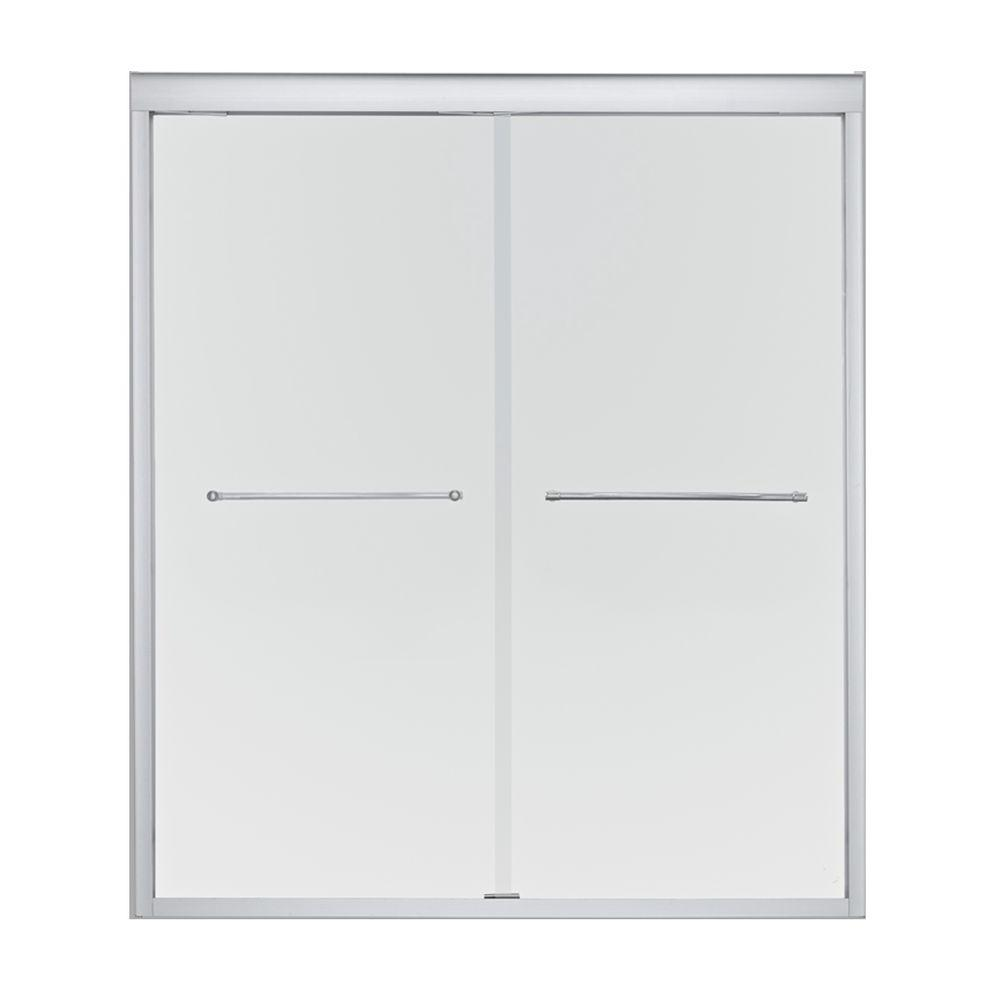 KOHLER Devonshire 47-5/8 in. x 70-5/16 in. Frameless Bypass Bath Door in Brushed Nickel-DISCONTINUED
