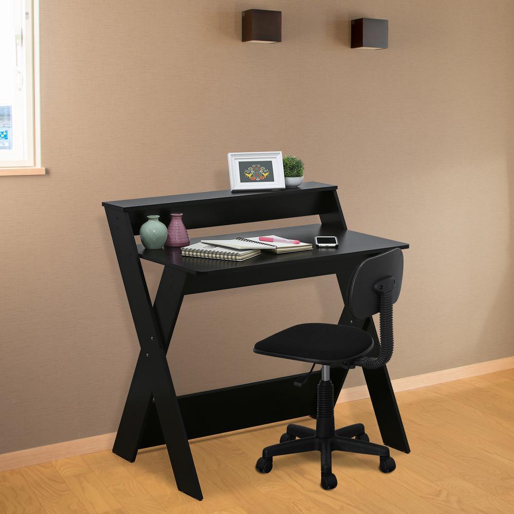 Superbe Furinno Modern Simplistic Espresso Criss Crossed Study Desk