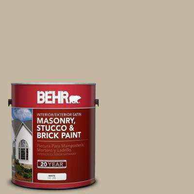 1 gal. #MS-43 Sandstone Satin Interior/Exterior Masonry, Stucco and Brick Paint