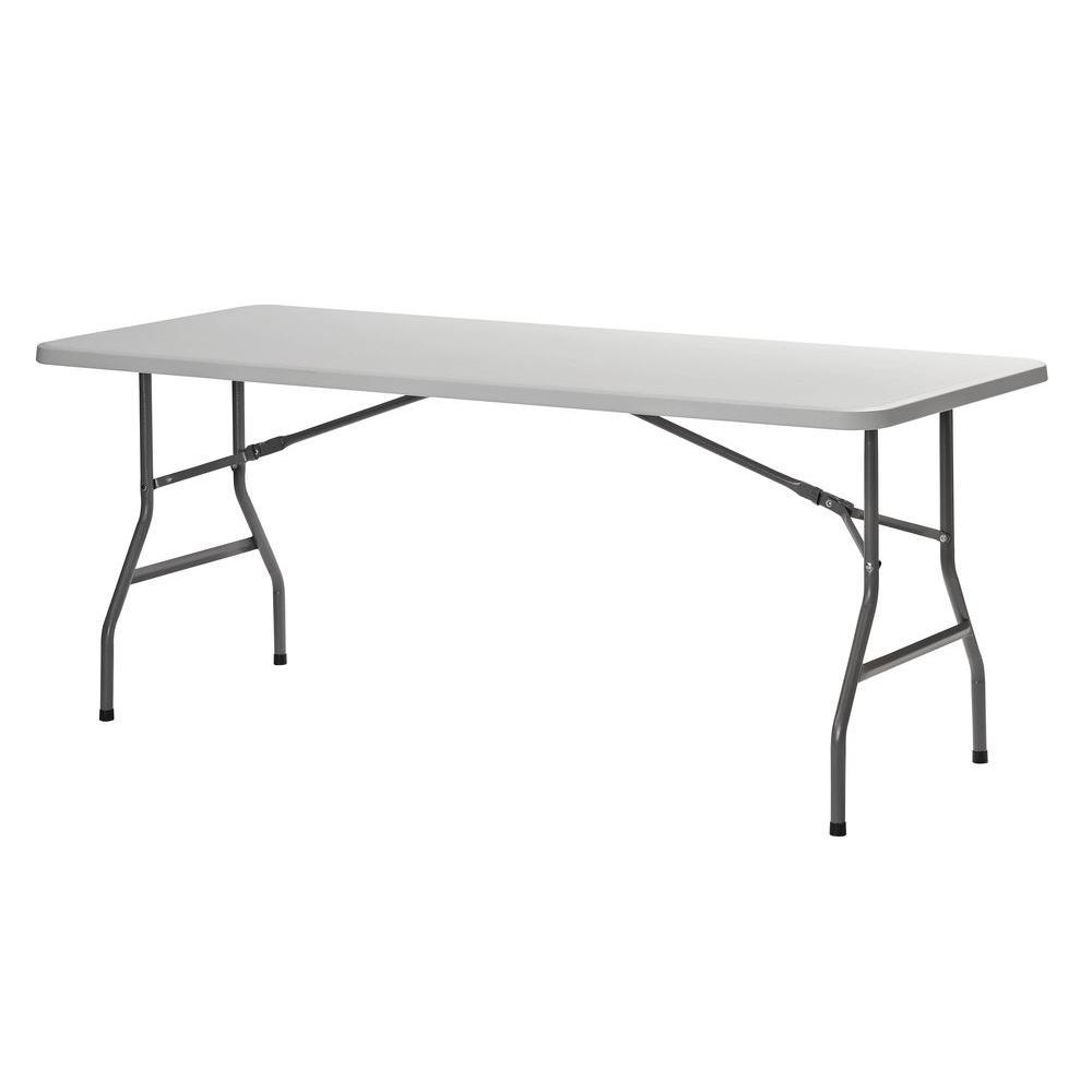 Sandusky 72 in. White Plastic Portable Folding Banquet Table