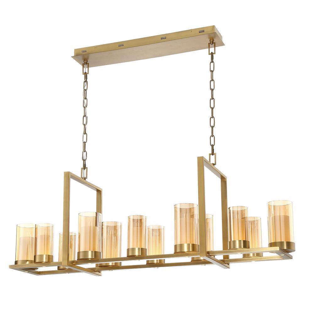 Londra 72-Watt Brass Integrated LED Chandelier