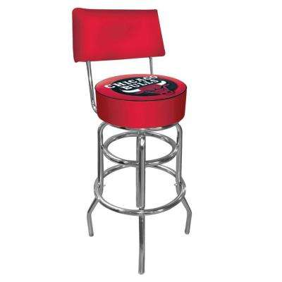 Chicago Bulls NBA 30 in. Chrome Padded Swivel Bar Stool
