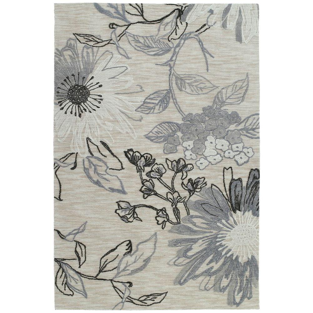Kaleen Inspire Imagination Linen 4 ft. x 6 ft. Area Rug