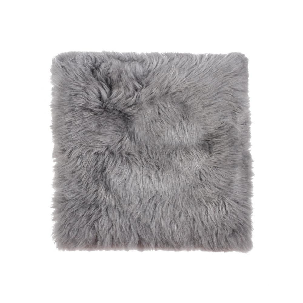 New Zealand Gray Sheepskin Chair Pad
