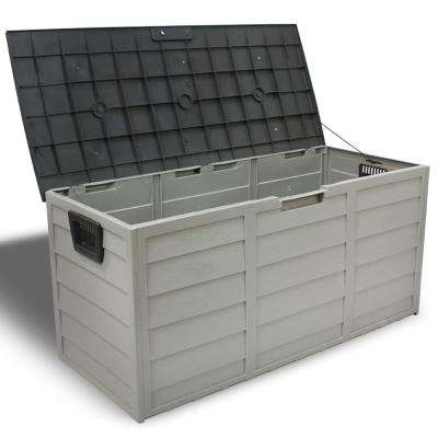44 in. x 19.4 in. Patio Deck Storage Box in Grey