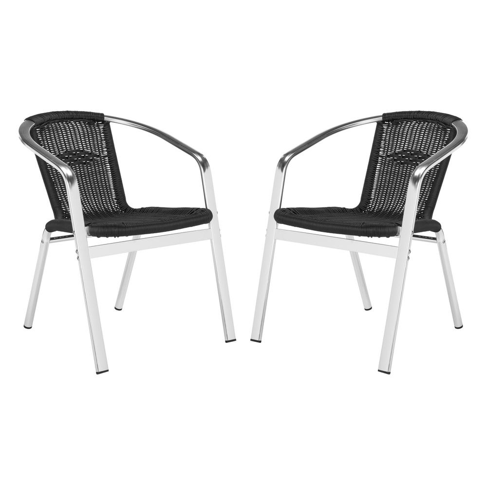 Safavieh Wrangell Stacking Aluminum Outdoor Dining Chair ...