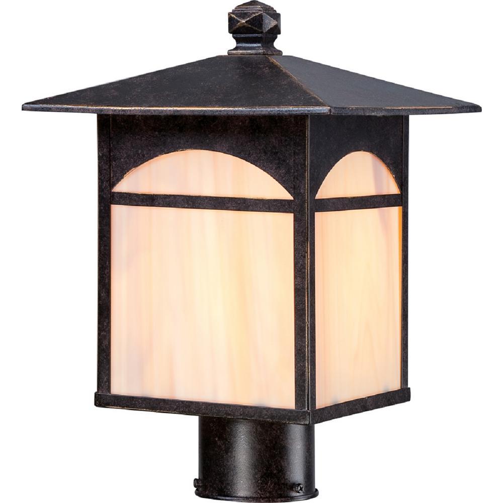 William 1-Light Umber Bronze Outdoor Post Light
