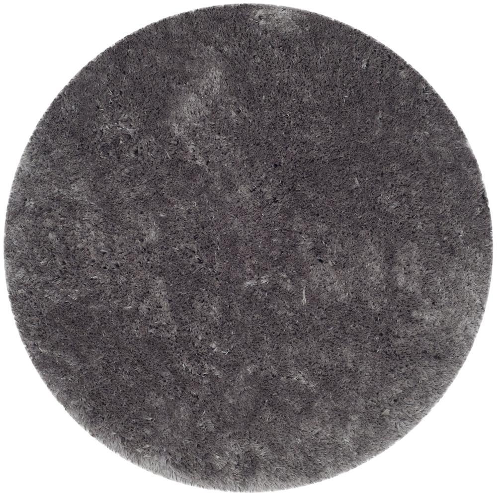 Safavieh Arctic Shag Gray 7 Ft. X 7 Ft. Round Area Rug