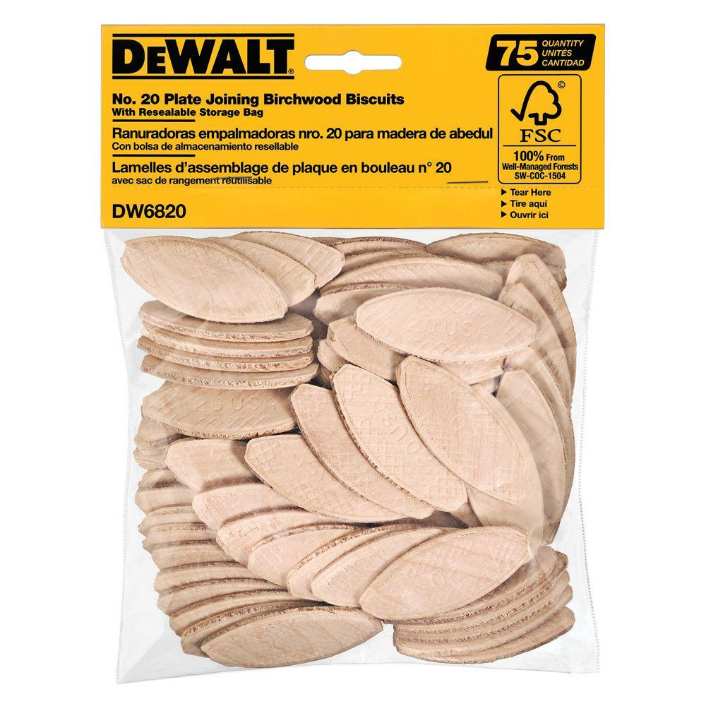 DEWALT No. 20 Size Joining Biscuits (75-Piece)