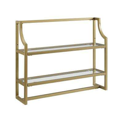 Aimee 24 in. Wall Shelf in Soft Gold