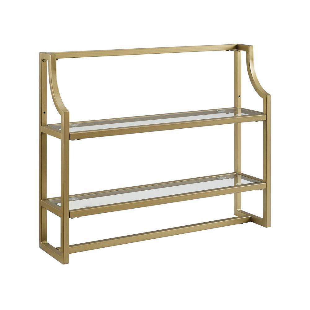 Gold Bathroom Shelves