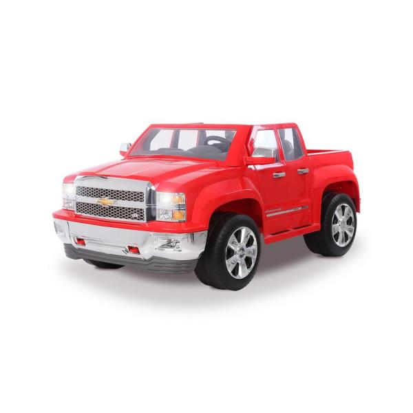 Chevy Silverado 12-Volt Battery Ride-On Vehicle in Red