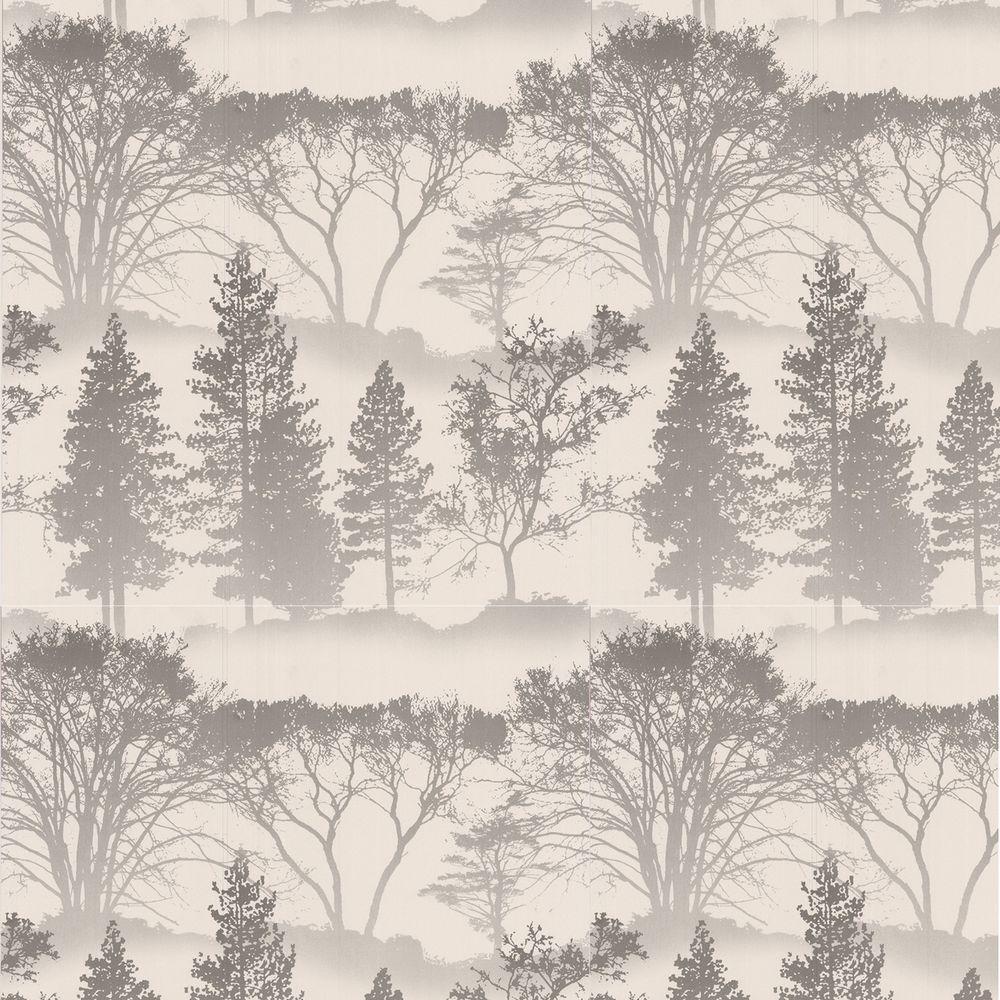 Graham & Brown 56 sq. ft. Mirage Gray Wallpaper